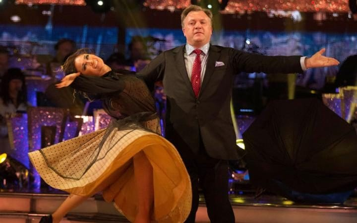 Ed Balls and Katya Jones dancing on Strictly Come Dancing